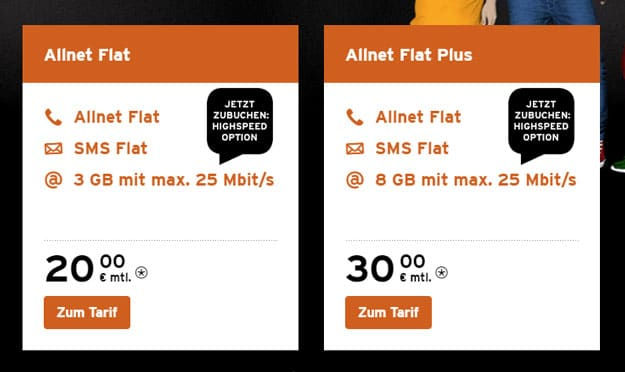 congstar Allnet Flat und Allnet Flat Plus im Telekom-Netz