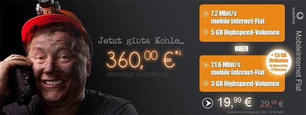 Vodafone-Datenflat-360-EUR-Auszahlung