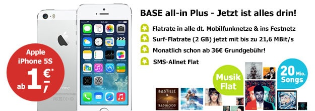 BASE all-in plus iPhone 5s