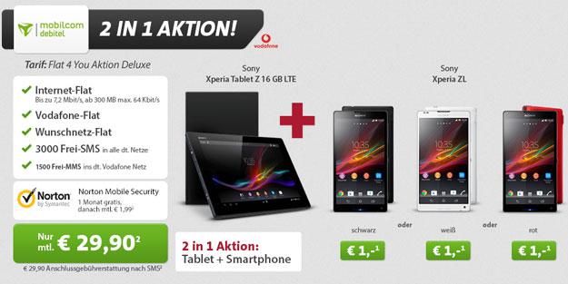 Flat 4 You mit Xperia Tablet Z