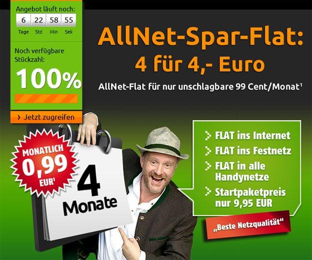 Klarmobil Allnet Flat o2 99 Cent