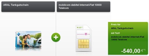 Telekom 10000 Datenflat ARAL-Tankgutschein