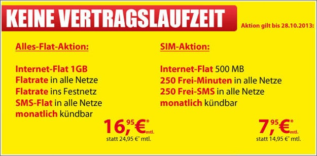 FlatXM all-in XL Mobildiscounter