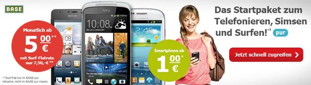 HTC Desire mit BASE pur_classic