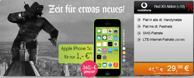 iPhone 5c mit Vodafone Red XS und LTE