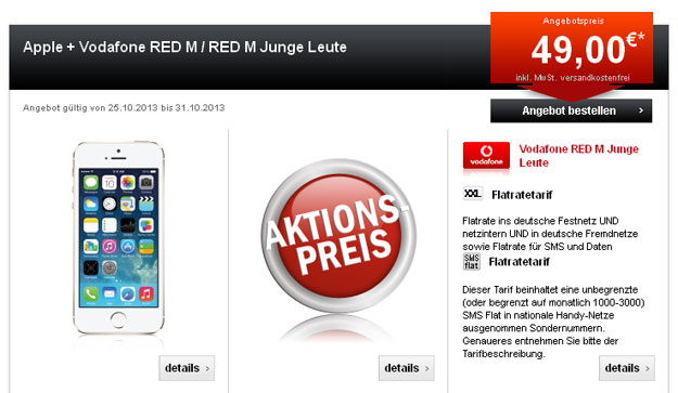 iPhone 5c 5s mit Vodafone Red M Junge Leute