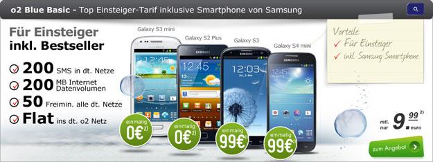 o2 Basic Blue mit Samsung Galaxy