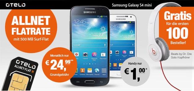 Otelo All-net Flat mit Samsung Galaxy S4 Mini und Beats by Dr. Dre Solo Kopfhörer