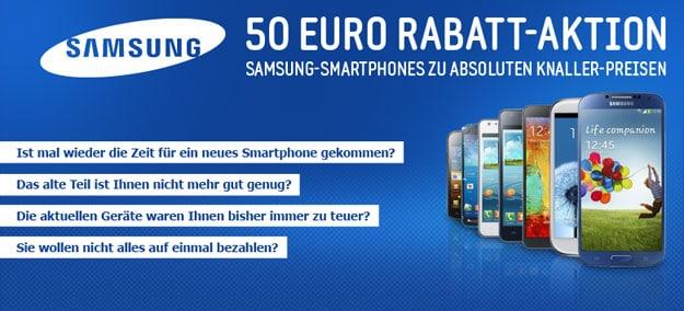 Samsung50-Rabattaktion bei notebooksbilliger