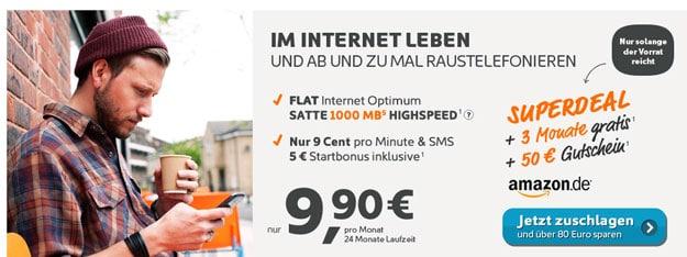 simyo Internetflat mit Amazon-Gutschein