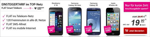 Telekom Flat Smart - Tarif mit Smartphones