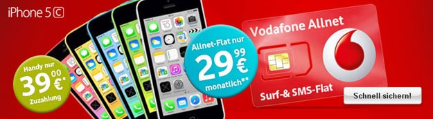 Vodafone Allnet mit iPhone 5c
