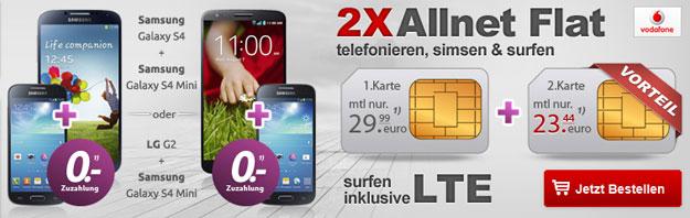 2x Allnetflat von Vodafone