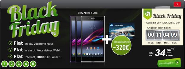 Black Friday Sony Xperia Z Ultra - Flat 4 You