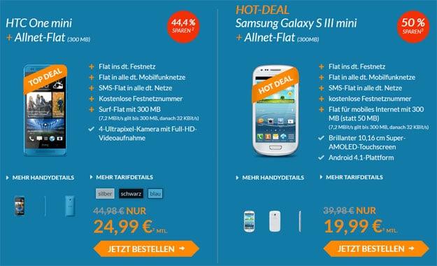 Blue-Deals HTC One mini Galaxy S3 mini