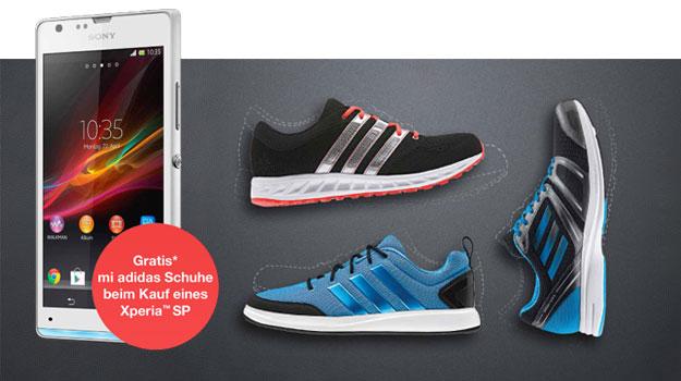 fa985eed548112 Vodafone Allnet-Flat mit Sony Xperia SP + mi adidas Schuhe ...