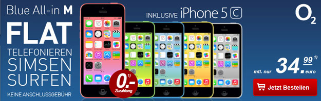 o2 Blue All-in M mit iPhone 5c