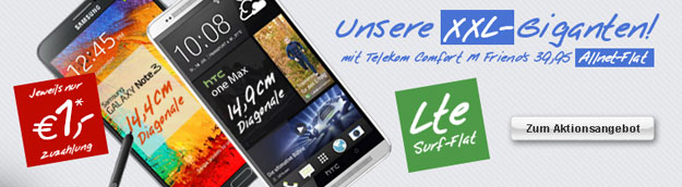 Telekom Complete Comfort M Friend mit HTC One und Samsung Galaxy Note 3