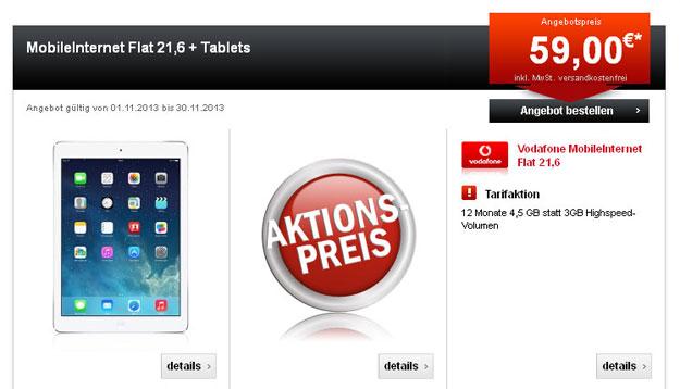 MobileInternet Flat mit iPad Air und Mini