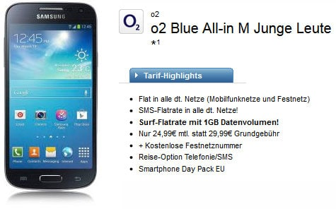 o2 Blue All-in-M Samsung Galaxy S4 mini