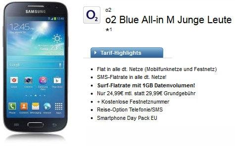 o2 Blue All-in-M Samsung Galaxy S4 mini