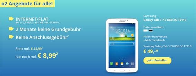 o2 go Flat M mit Galaxy Tab 3