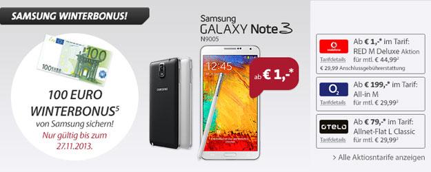 Samsung Galaxy Note 3 mit 5 Tarifen