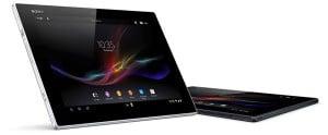 Sony Xperia Tablet Z Seite