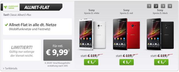 Sony Xperia ZL - Allnet-Flat mit Gewinn