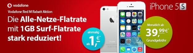 Vodafone Allnet-Flat mit iPhone 5s