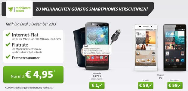 Big Deal RAZR i Huawei Ascend P6
