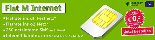 Flat M Internet für 0 EUR