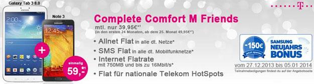 Samsung Galaxy Note 3 - Telekom Complete Comfort M Neujahrsbonus