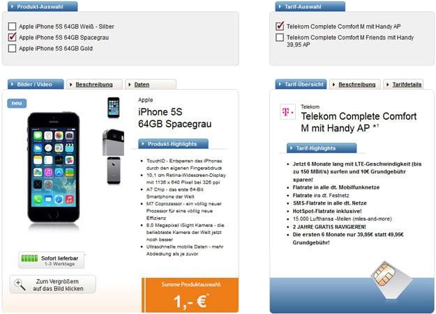 Telekom Complete Comfort M - iPhone 5s