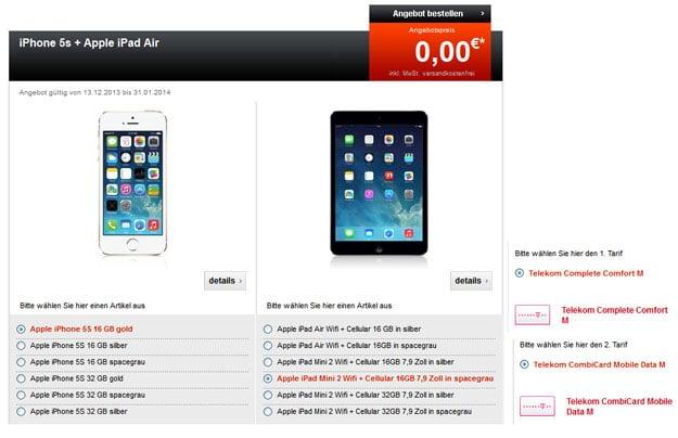 Telekom Complete Comfort M mit iPhone und iPad