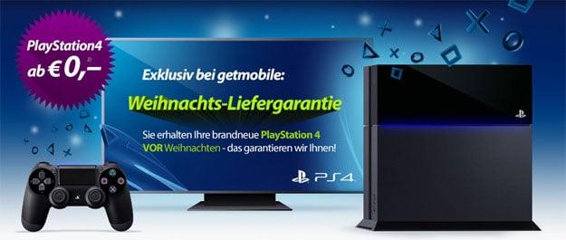 Playstation 4 von getmobile bis Weihnachten