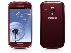 Samsung Galaxy S3 Mini rot