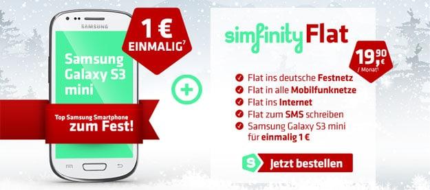 simfinity Flat + Samsung Galaxy S3 Mini