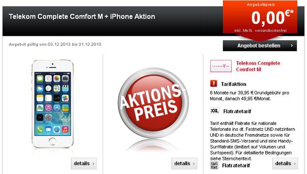 Telekom Complete Comfort M mit iPhone 5s