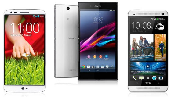 LG G2 - Sony Xperia Z Ultra - HTC One