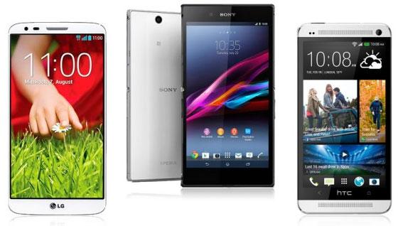 LG G2 - Sony Xperia Z Ultra - HTC One