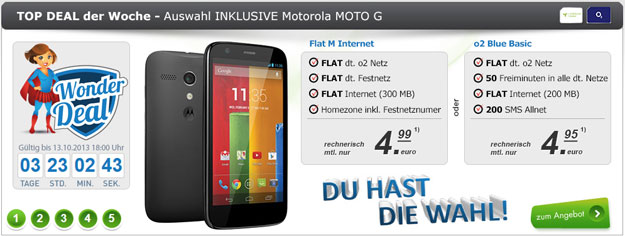 Motorola Moto G mit Gewinn