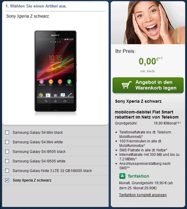 Telekom Flat Smart - Sony Xperia Z