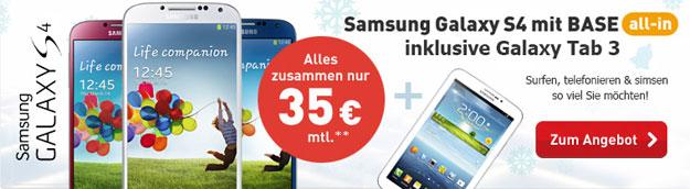 Samsung Galaxy S4 mit Samsung Galaxy Tab 3 7.0 WiFi