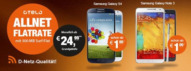 Otelo Allnet-Flats bei LogiTel mit Samsung Smartphones