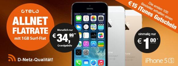 LogiTel mit Otelo Allnet-Flat XL und iPhone 5s + iTunes-Karte