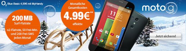 Motorola Moto G mit o2 Blue Basic und 20 € Gewinn