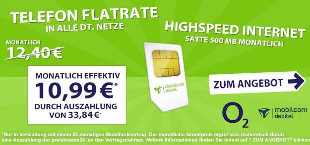 o2-Talk-Allnet für 10,99 EUR