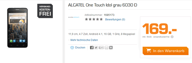 Alcatel One Touch Idol bei SATURN