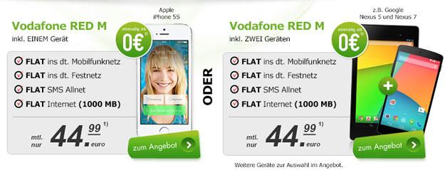 Vodafone RED M beste Angebote